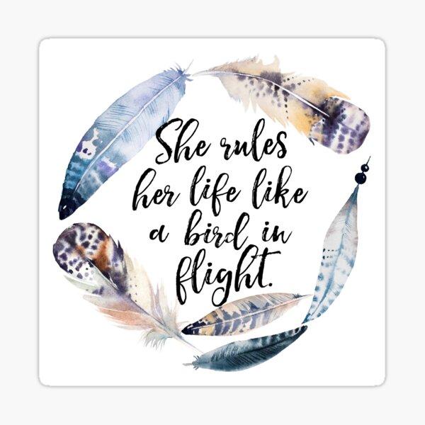 Bird in Flight - Rhiannon Lyrics Sticker