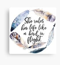 Bird in Flight - Rhiannon Lyrics Metal Print