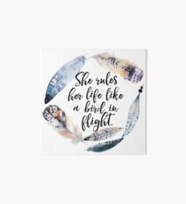 Bird in Flight - Rhiannon Lyrics Art Board
