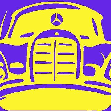 Yellow MBZ Car Artwork by mbz-tech