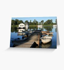 Erie Houseboats Greeting Card
