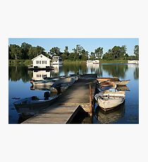 Erie Houseboats Photographic Print