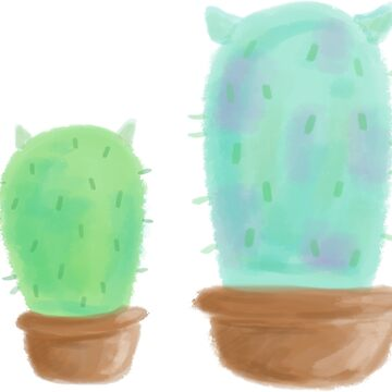 Mike and Sully, Cactus, Monsters, Inc by ellietography