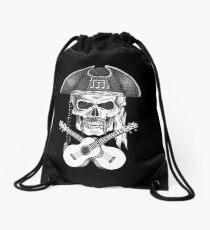 Ukulele Pirate Skull Drawstring Bag