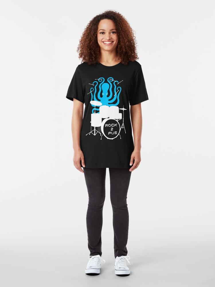 Alternate view of Octopus Rock! Slim Fit T-Shirt