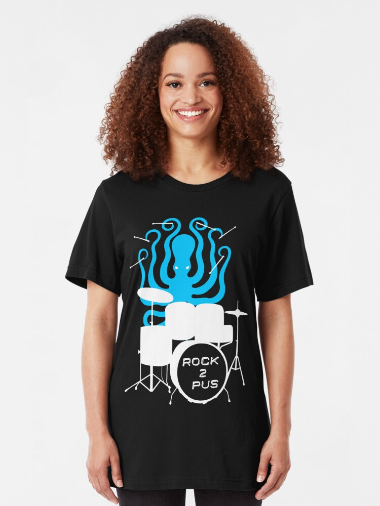Alternate view of Octopus Rock! Slim Fit T-Shirt