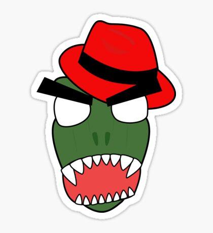 angry zombie trex Sticker