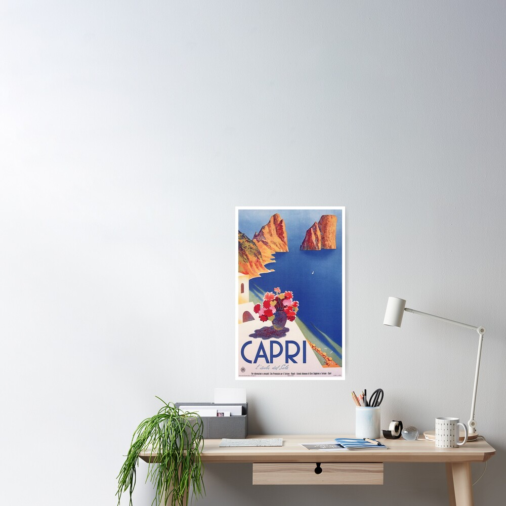 Vintage Capri Italy Travel Poster Poster