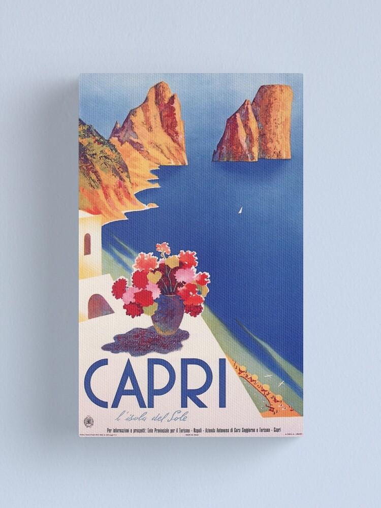 Alternate view of Vintage Capri Italy Travel Poster Canvas Print