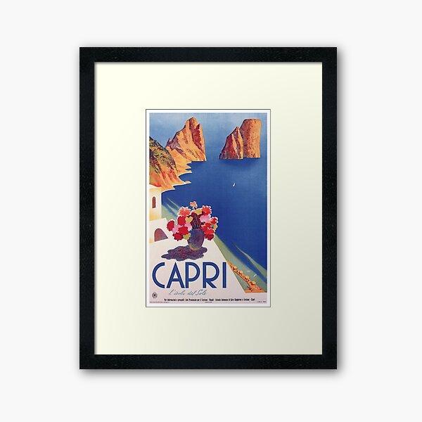 Vintage Capri Italy Travel Poster Framed Art Print