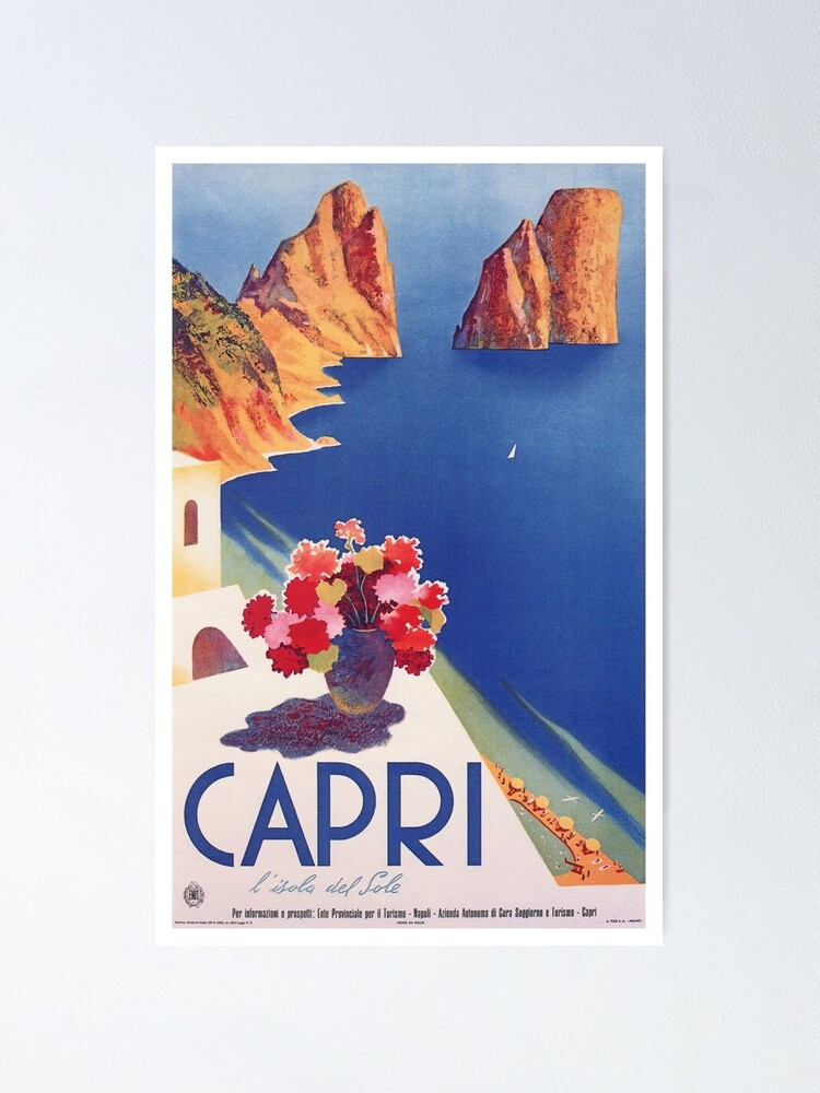 Alternate view of Vintage Capri Italy Travel Poster Poster