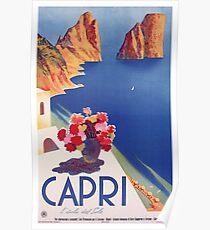 Póster Cartel de viaje Vintage Capri Italia
