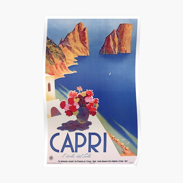 Vintage Capri Italy Travel Poster Poster