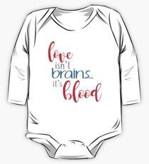 buffy - love isn't brains One Piece - Long Sleeve
