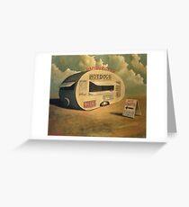 Abandoned Hotdog Van Greeting Card