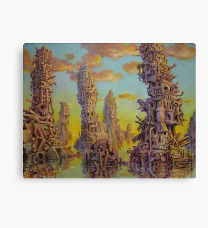 Junk Islands Canvas Print