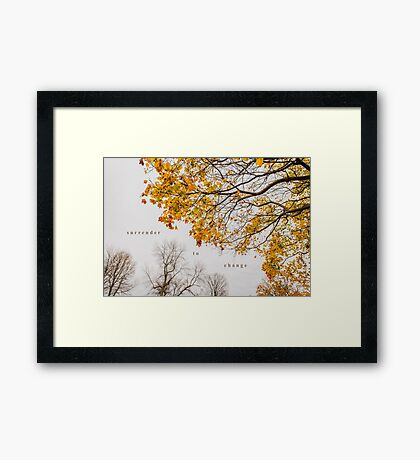 Surrender to Change Framed Print