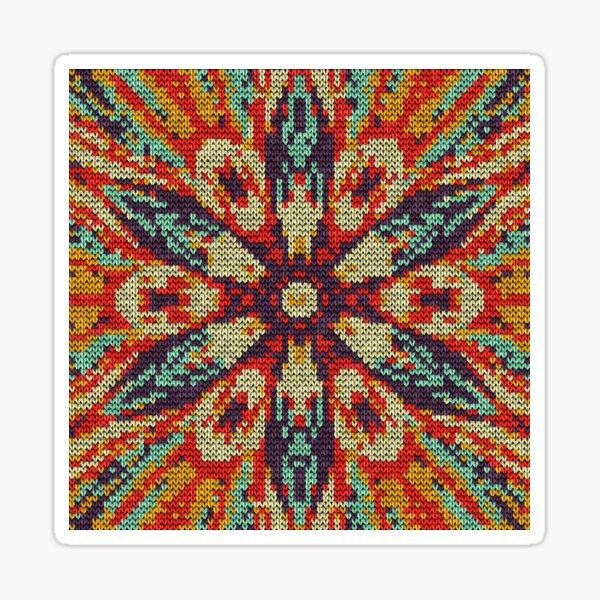 Flor Star Knitpat Sticker