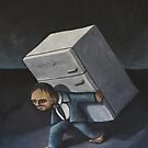 Refrigerator Crucifixion by tank
