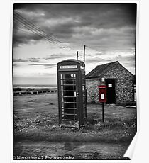 Red Post Box & Telephone Box Poster