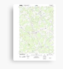Maine USGS Historical Map Gorham 20110825 TM Canvas Print