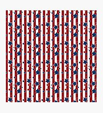 Blue stars, red striped  Photographic Print
