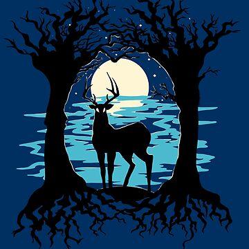 Moonlit Buck by kathuman