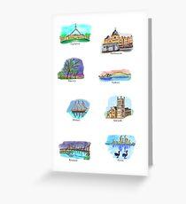 Australia- Capital Cities Greeting Card