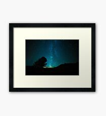 Landscape of the Milky Way that shines in the night sky Framed Print