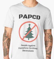 People Against Premature Christmas Decorations Men's Premium T-Shirt