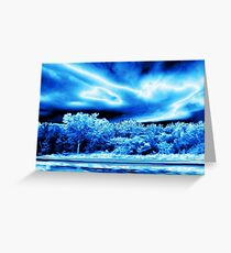 Iceblue Storm Clouds Greeting Card