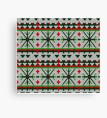 Color Knitted Christmas Seamless Pattern Canvas Print