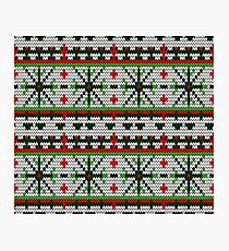 Color Knitted Christmas Seamless Pattern Photographic Print