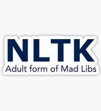 NLTK Mad Libs Sticker