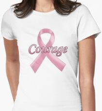Breast Cancer Awareness - Courage Women's Fitted T-Shirt