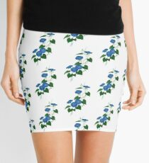 Victorian Style Blue Bindweed Wildflower  Mini Skirt