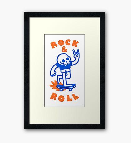 ROCK & ROLL SKULL Framed Print