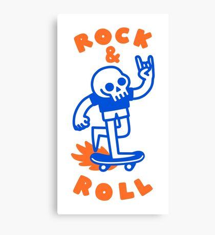 ROCK & ROLL SKULL Canvas Print