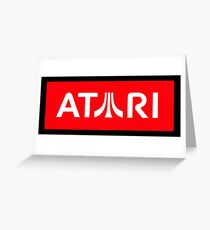 atari - Some people say the devil is beating Greeting Card