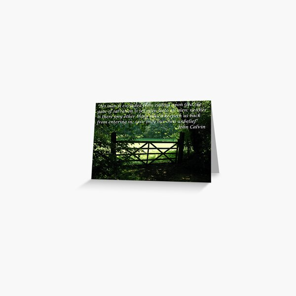 The Gate of Life Greeting Card