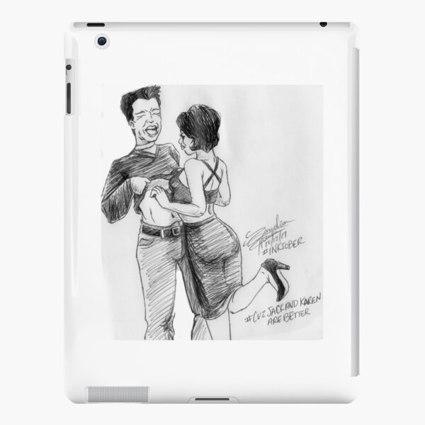 Karen and Jack iPad Snap Case