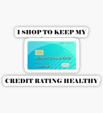 Money, Shop, Credit, Health Sticker