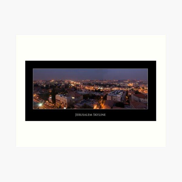 Jerusalem Skyline Art Print