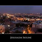 Jerusalem Skyline by Abba Richman