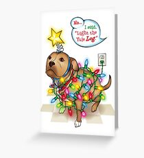 Yule Dog Greeting Card