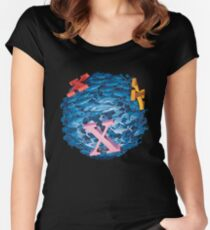 'X' Marks the Spot Women's Fitted Scoop T-Shirt