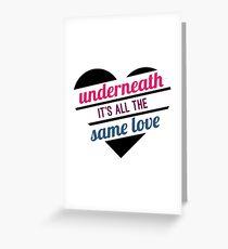 Same Love // Bisexual // Equality Greeting Card