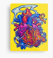 BUSTED HEART Metal Print