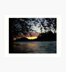 SUNSET AT THE CARBON RIVER Art Print