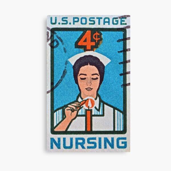 """1962 Nursing Stamp"" Canvas Print"